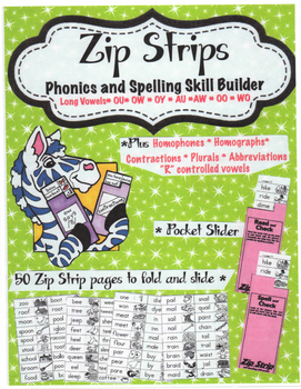 Free Sample Zip Strip Phonics and Spelling Skill Builders