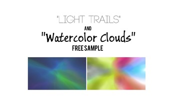 """Free Sample of """"Light Trails"""" and """"Watercolor Clouds"""" Back"""