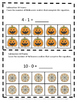 Free Sampler: Halloween 10 Frame Task Cards Counting, Addi