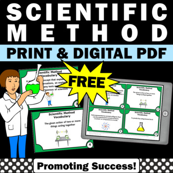 FREE Scientific Method Task Cards for Science Center Games