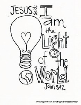 Free Devotional Scripture Coloring Page