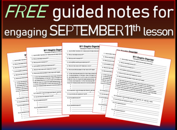 Free September 11th graphic organizer/guided notes/structu