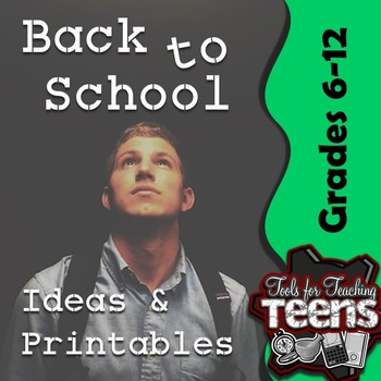Free Set of Back to School Ideas & Printables (Grades 6-12)
