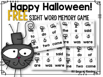 Free Sight Word Activity