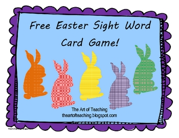 Free Sight Word Easter Game