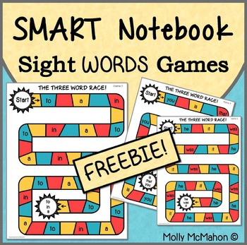 Free Sight Word Games on the SMART Board