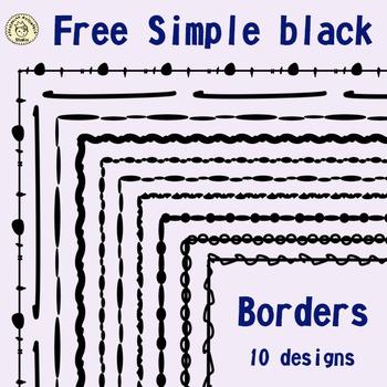 Free Simple Black Borders