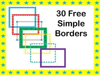 Free Simple Borders