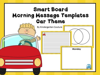 Free Smart Board Morning Message Template (Car Theme)