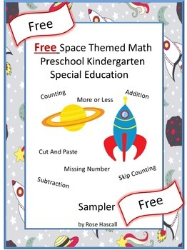 Free Space Themed Math  Preschool Kindergarten Special Edu