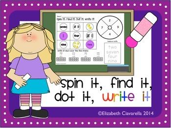 Free Spin It, Find It, Dot It, Write It Identifying Number