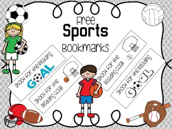 Free Sports Themed Bookmarks