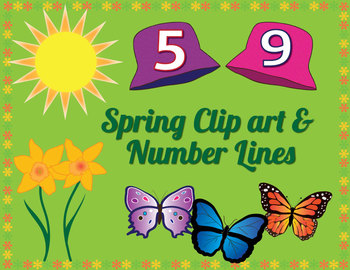 Free Spring Clip art and Number Lines