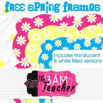 Free Spring Frames By The 3AM Teacher