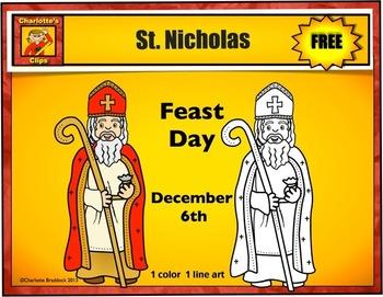 Free St. Nicholas Clip art from Charlotte's Clips: Catholi