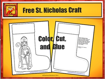 Free St. Nicholas Craft from Charlotte's Clips: Catholic -