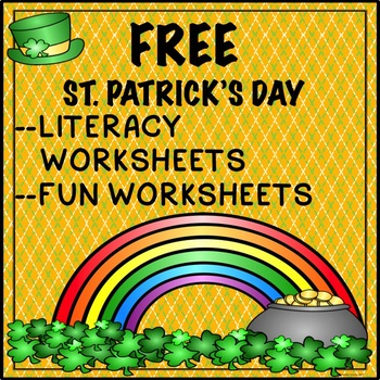 Free St. Patrick's Day Activities Literacy worksheeets