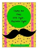 Free---Stump the Class Questioning ... Mustache Style!