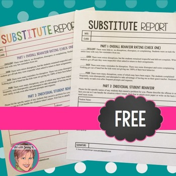 Substitute form FREE
