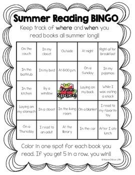Free Summer Reading Bingo!