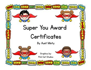 Free Super Hero Theme Award Certificates