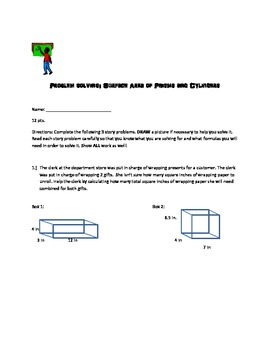Free- Surface Area Quiz
