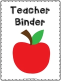 Free Teacher Binder Pages
