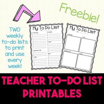 Free Teacher To Do List