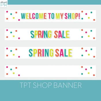 Free Teachers Pay Teachers Banners // Bright Spring Colors