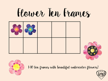 Free Ten Frames: Spring Flowers