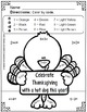 Free Thanksgiving Color By Number Addition