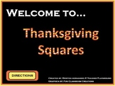Thanksgiving Squares ActivInspire Game Template (Hollywood