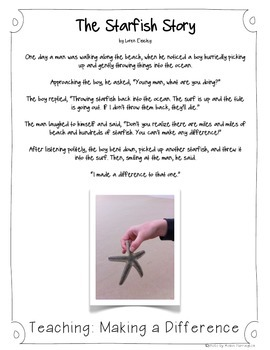 Teaching: Making a Difference {The Starfish Story} - FREE!