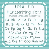 Free - Thin Handwriting Font - Commercial Use {Spanish, Fr