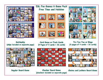 Free Time and Hobbies 6 Board Game Bundle