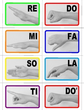 Free Tonic Sol-fa Hand sign flash cards