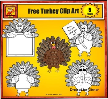 Free Turkey Clip art from Charlotte's Clips