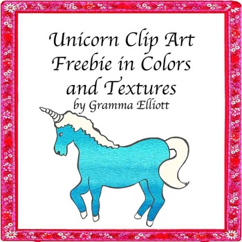 Clip Art - Free Unicorns in Assorted Colors and Textures