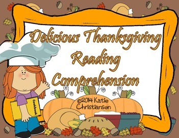 Thanksgiving Recipes Reading Comprehension