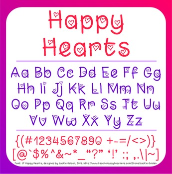 Free Valentine Font: Happy Hearts (True Type Font)