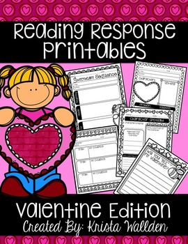 {Free} Valentine Reading Response Printables