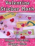 Free Valentine Sticker Math: Addition, Subtraction, Missin