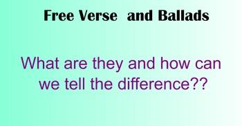 Free Verse VS Ballad