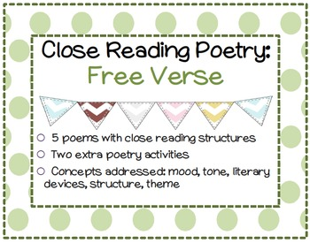 Close Reading Poetry: Free Verse