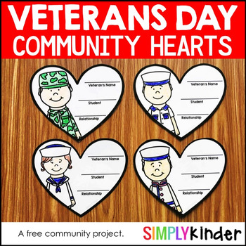 Free Veterans Day Hearts Community Project