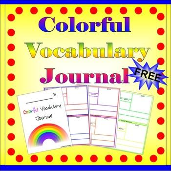 Free Vocabulary Journal