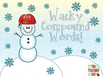 Free Wacky Snowman Compound Words