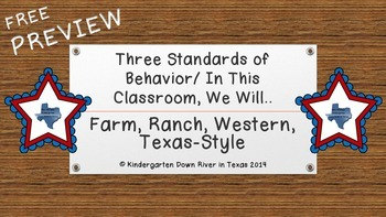 Free Western Style Three Standards of Behavior or In This