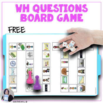 Free Wh-Question Board Game