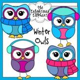 Free Winter Owls Clip Art